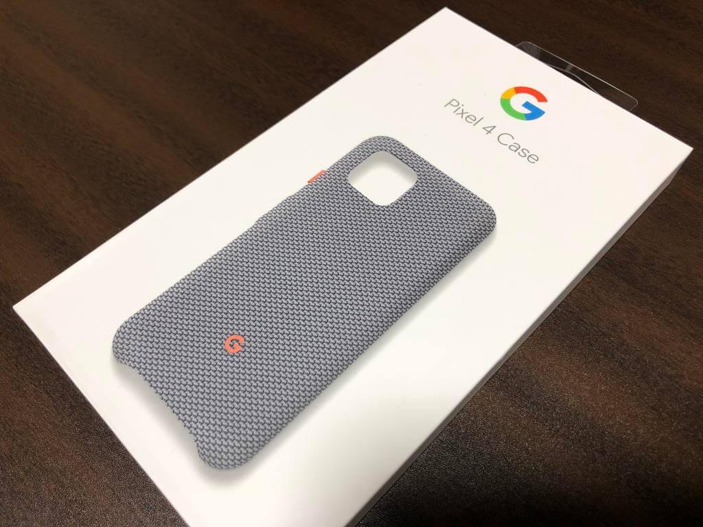 Google純正Pixel4ファブリックケース